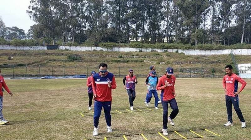 राष्ट्रिय क्रिकेट टिमको बन्द प्रशिक्षण सुरु